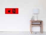 Running Man Fire Safety Exit Sign Emergency Evacuation Wall Poster 112