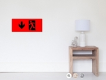Running Man Fire Safety Exit Sign Emergency Evacuation Wall Poster 113