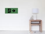 Running Man Fire Safety Exit Sign Emergency Evacuation Wall Poster 116