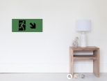 Running Man Fire Safety Exit Sign Emergency Evacuation Wall Poster 118