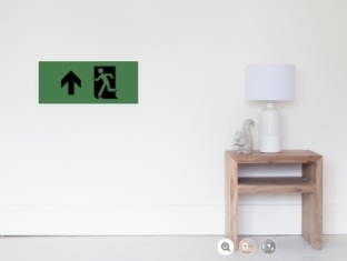 Running Man Fire Safety Exit Sign Emergency Evacuation Wall Poster 120