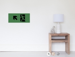 Running Man Fire Safety Exit Sign Emergency Evacuation Wall Poster 122