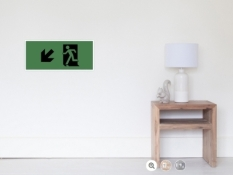 Running Man Fire Safety Exit Sign Emergency Evacuation Wall Poster 123