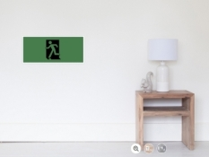 Running Man Fire Safety Exit Sign Emergency Evacuation Wall Poster 126