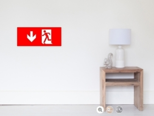 Running Man Fire Safety Exit Sign Emergency Evacuation Wall Poster 16