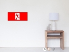 Running Man Fire Safety Exit Sign Emergency Evacuation Wall Poster 17