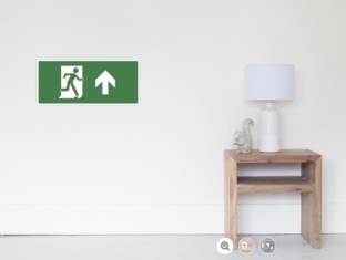 Running Man Fire Safety Exit Sign Emergency Evacuation Wall Poster 19