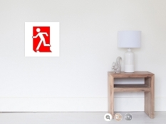 Running Man Fire Safety Exit Sign Emergency Evacuation Wall Poster 2