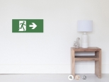 Running Man Fire Safety Exit Sign Emergency Evacuation Wall Poster 20