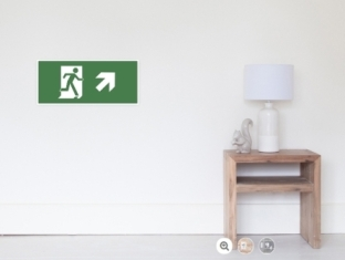 Running Man Fire Safety Exit Sign Emergency Evacuation Wall Poster 21
