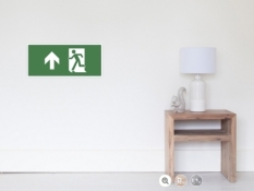 Running Man Fire Safety Exit Sign Emergency Evacuation Wall Poster 25