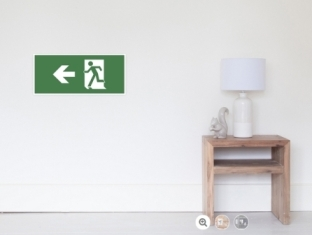 Running Man Fire Safety Exit Sign Emergency Evacuation Wall Poster 26