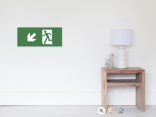 Running Man Fire Safety Exit Sign Emergency Evacuation Wall Poster 28