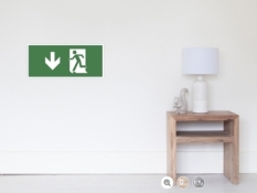 Running Man Fire Safety Exit Sign Emergency Evacuation Wall Poster 29