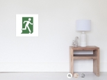 Running Man Fire Safety Exit Sign Emergency Evacuation Wall Poster 3