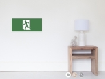 Running Man Fire Safety Exit Sign Emergency Evacuation Wall Poster 30