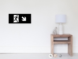 Running Man Fire Safety Exit Sign Emergency Evacuation Wall Poster 34