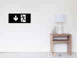 Running Man Fire Safety Exit Sign Emergency Evacuation Wall Poster 41