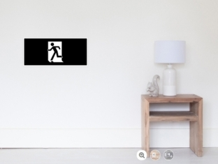 Running Man Fire Safety Exit Sign Emergency Evacuation Wall Poster 42