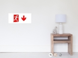 Running Man Fire Safety Exit Sign Emergency Evacuation Wall Poster 47