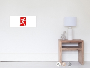 Running Man Fire Safety Exit Sign Emergency Evacuation Wall Poster 48