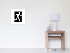 Running Man Fire Safety Exit Sign Emergency Evacuation Wall Poster 5