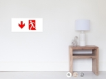 Running Man Fire Safety Exit Sign Emergency Evacuation Wall Poster 53