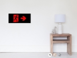 Running Man Fire Safety Exit Sign Emergency Evacuation Wall Poster 57