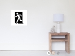 Running Man Fire Safety Exit Sign Emergency Evacuation Wall Poster 6