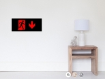 Running Man Fire Safety Exit Sign Emergency Evacuation Wall Poster 60