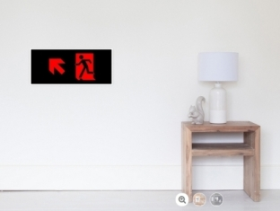 Running Man Fire Safety Exit Sign Emergency Evacuation Wall Poster 63