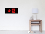 Running Man Fire Safety Exit Sign Emergency Evacuation Wall Poster 65