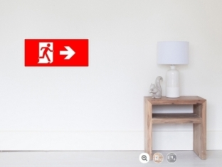 Running Man Fire Safety Exit Sign Emergency Evacuation Wall Poster 7