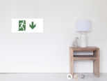 Running Man Fire Safety Exit Sign Emergency Evacuation Wall Poster 71