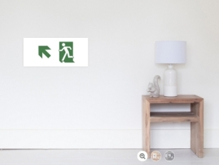 Running Man Fire Safety Exit Sign Emergency Evacuation Wall Poster 75