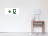 Running Man Fire Safety Exit Sign Emergency Evacuation Wall Poster 77