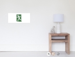 Running Man Fire Safety Exit Sign Emergency Evacuation Wall Poster 78