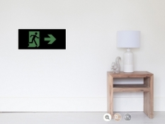 Running Man Fire Safety Exit Sign Emergency Evacuation Wall Poster 80
