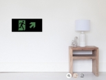 Running Man Fire Safety Exit Sign Emergency Evacuation Wall Poster 81