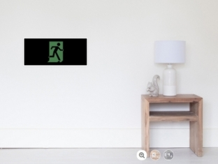 Running Man Fire Safety Exit Sign Emergency Evacuation Wall Poster 84