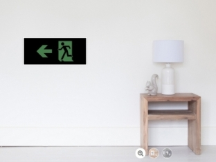 Running Man Fire Safety Exit Sign Emergency Evacuation Wall Poster 86