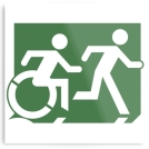 Accessible Exit Sign Project Means of Egress Icon 63