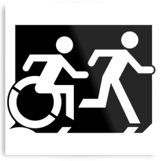 Accessible Exit Sign Project Means of Egress Icon 65