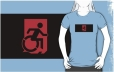 Accessible Exit Sign Project Wheelchair Wheelie Running Man Symbol Means of Egress Icon Disability Emergency Evacuation Fire Safety Adult t-shirt 10