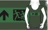 Accessible Exit Sign Project Wheelchair Wheelie Running Man Symbol Means of Egress Icon Disability Emergency Evacuation Fire Safety Adult T-shirt 103