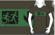 Accessible Exit Sign Project Wheelchair Wheelie Running Man Symbol Means of Egress Icon Disability Emergency Evacuation Fire Safety Adult T-shirt 106