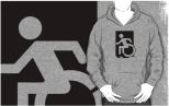 Accessible Exit Sign Project Wheelchair Wheelie Running Man Symbol Means of Egress Icon Disability Emergency Evacuation Fire Safety Adult t-shirt 115