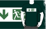 Accessible Exit Sign Project Wheelchair Wheelie Running Man Symbol Means of Egress Icon Disability Emergency Evacuation Fire Safety Adult T-shirt 129