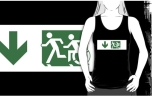 Accessible Exit Sign Project Wheelchair Wheelie Running Man Symbol Means of Egress Icon Disability Emergency Evacuation Fire Safety Adult T-shirt 132