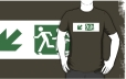 Accessible Exit Sign Project Wheelchair Wheelie Running Man Symbol Means of Egress Icon Disability Emergency Evacuation Fire Safety Adult T-shirt 133